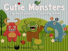Cutie Monsters-Jigsaw Puzzles for iPad - an interactive counting book (from 1 to 10) plus a set of jigsaw puzzles with the monster theme. Appysmarts score: 82/100
