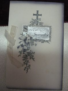 Vintage French sympathy card