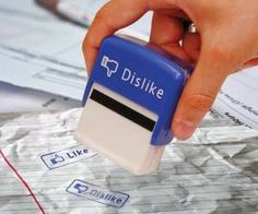 Facebook Like Dislike Stamps awesome , creative , fun and personal gift - gifts