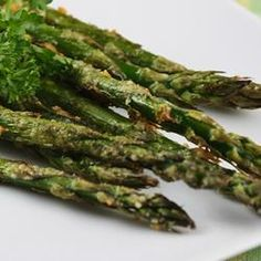 """Roasted Asparagus with Parmesan Recipe- I Love the review by Don on Feb. 14, 2013! -""""I spent the first 72 years of my life not wanting to even try asparagus, now I want to shoot myself for not trying it sooner. Thanks Diane, it was delicious"""" This speaks to so much more than just a recipe!"""