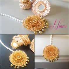 gotta jewelry - Ninos Creations Gota Patti Jewellery, Thread Jewellery, Lace Jewelry, Fabric Jewelry, Ethnic Jewelry, Bridal Jewelry, Handmade Jewelry, Jewelry Model, Jewlery