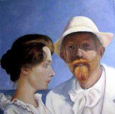 Name: Krøyer and Krøyer Artist: Grete Ryberg Høgh Gallery: Kunstsamlingen Height: 60 cm Width: 60 cm Price: 5300 kr. #kunstsamlingen #kunst #artcollection #art #painting #maleri #galleri #gallery #onlinegallery #onlinegalleri #kunstner #artist #danishartists #claysculpture #clay #sculpture #greteryberghøgh
