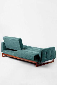 canapés convertibles, canapé-lit en bois et tissu
