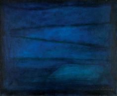 Josef Šíma Blue Space, Fifth Element, Online Painting, Flow, Blues, Abstract, Colors, Places To Visit, Summary