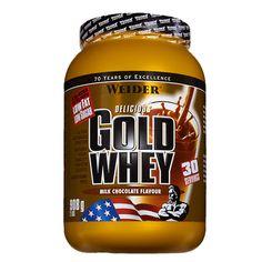 Weider - GOLD WHEY Concentrado de proteínas de alta calidad. Mejora la definición muscular y facilita la absorción de grasas.