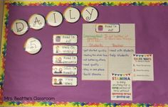 Using The Daily 5 in your classroom? Check out how I'm getting organized in my classroom!