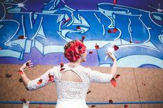 Robe de mariée Laure B Gady inspiration mariage annees 30 Gatsby boxe - Photo: David Sultan - La Fiancée du Panda blog Mariage et Lifestyle