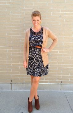 brown booties and black dress