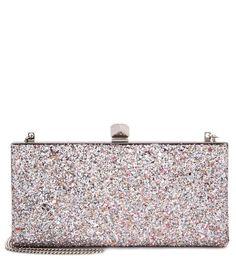 JIMMY CHOO Celeste Glitter Clutch. #jimmychoo #bags #clutch #shoulder bags #lining #hand bags #glitter #cotton #
