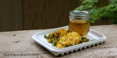 Dandelion jelly — Your springtime meadow in a jar  This should make my dandelion loving husband happy.