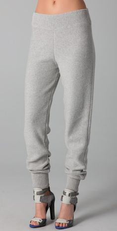 What? Designer *sweatpants*? That you wear with heels? Doesn't this defeat the purpose of sweatpants? Color me confused. // T by Alexander Wang Cotton Knit Sweatpants