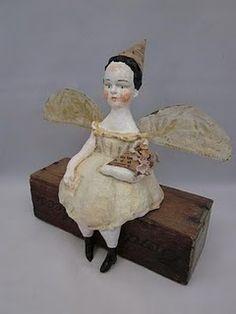 papier mache folk art doll