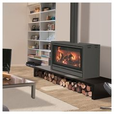Online shopping from a great selection at Home Store. Home Fireplace, House Design, New Homes, Home Decor Kitchen, Wood Heater, Fireplace Tile, Home Living Room, House, Home