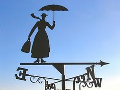 ..and an English rooftop wouldn't be complete without a Mary Poppins Weathervane...I want one.