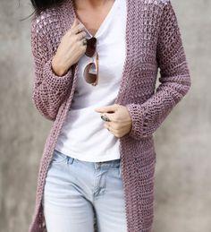 Verano Longline Cardigan Pattern – Mama In A Stitch Crochet Cardigan Pattern, Crochet Patterns, Stitch Patterns, Crochet Ideas, Crochet Projects, Crochet Kits, Crochet Jacket, Cool Sweaters, Girls Sweaters