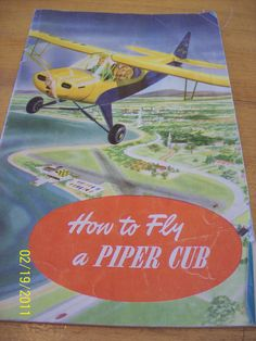 Piper Cub Airplane Flying Instruction booklet by VintageVegies