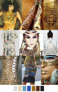 Walk Like An Egyptian - Kristin Fashion Colours, Colorful Fashion, Fashion Details, Moda Fashion, Fashion Art, Fashion Design, Fashion Trends, Egyptian Fashion, Color Collage