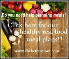 Bi-Weekly Whole Food Real Food Organic Dinner Meal Plan - free