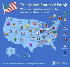 Here's which emoji each state uses more than others