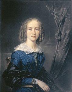 "dutch-and-flemish-painters: "" Jean Augustin Daiwaille - Portrait of Elise Therese Koekkoek, born Daiwaille, by her father Jean Augustin Daiwaille - c. 1835 Jean Augustin Daiwaille, a Dutch portrait..."