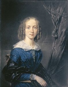 Jean Augustin Daiwaille, Bildnis der Elise Thérése Daiwaille, der Ehefrau von Barend Cornelis Koekkoek, um 1835