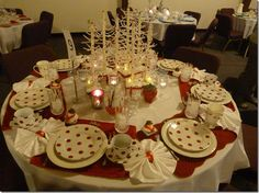 Beautiful Christmas table (love the polka dots)(from Starview Sonnet)