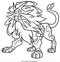 Coloriage Lunala Pokemon Légendaire À Imprimer en ce qui ...
