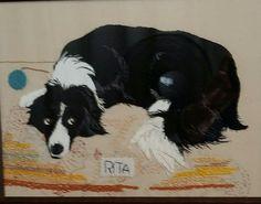 My beautiful girl Rita in needlework.
