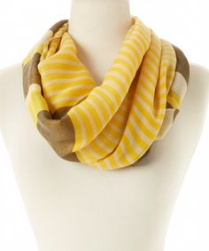 Another great find on #zulily! Olive Stripe Infinity Scarf #zulilyfinds