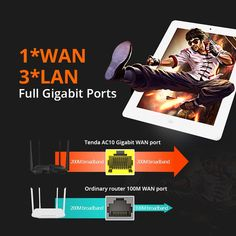 Tenda AC10 1200Mbps Wireless Wifi Router Dual band 2.4G/5G 1 WAN+3 LAN Gigabit Port 802.11AC 1GHz CPU 128 DDR3 Smart App Manage  Price: 66.99 & FREE Shipping #computers #shopping #electronics #home #garden #LED #mobiles #rc #security #toys #bargain #coolstuff |#headphones #bluetooth #gifts #xmas #happybirthday #fun Wireless Wifi Router, Bluetooth, Mobiles, Computers, Headphones, Xmas, App, Free Shipping, Electronics