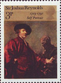 Artistic Anniversaries 3p Stamp (1973) 'Self-portrait' (Sir Joshua Reynolds)