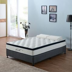 King Single Pillow Top Latex Pocket Spring Mattress - 199682 For Sale, Buy from King Single Mattress collection at MyDeal for best discounts. Latex Mattress, Pillow Top Mattress, Natural Latex, Home Bedroom, King Size, New Homes, Pure Products, Pocket, Knitted Fabric