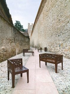 Landscape furniture | Corten steel bench by Marc Aurel  repinned by www.smg-treppen.de