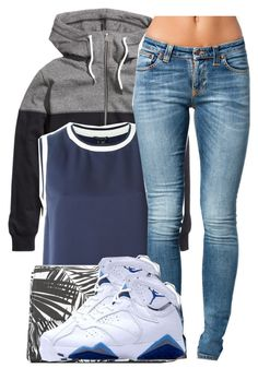 """""""Arie~ @ariangrant"""" by dopest-queens ❤ liked on Polyvore featuring H&M, Theory, MANGO and Nudie Jeans Co."""