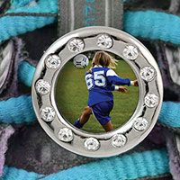 Add some bling to every step with our Soccer Shoe Lace Charms! They offer instant motivation so you can score that game winning goal!