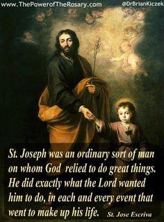 Joseph and Young Jesus by ? St Joseph Novena, St Joseph Prayer, Saint Joseph, Catholic Quotes, Religious Quotes, Religious Art, Religious Pictures, Catholic Prayers, Catholic Saints