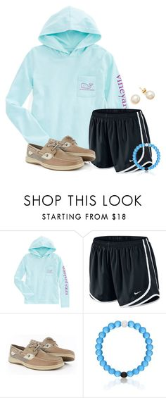 """""""Just arrived in Orlando!!"""" by flroasburn ❤ liked on Polyvore featuring NIKE and Sperry"""