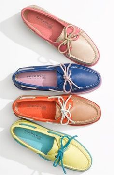 competitive price 9d0f5 b07bc Summer Essential  Colorful Boat Shoes I knew if I waited long enough, MY  style would be back! Oh how I ve missed you dear boat shoes.