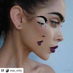 Inception make up #make #lipstick #purple