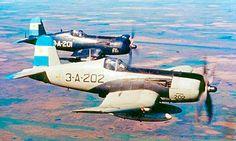 A pair of Argentine Navy Chance-Vought F4U-5 Corsairs , circa 1959.