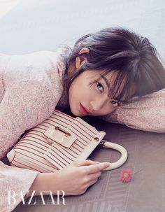 Shin Min Ah looks absolutely stunning on the cover of the April issue of Bazaar, check it out! Korean Actresses, Actors & Actresses, Shi Min Ah, Marie Claire Magazine, Shin, Korean Drama Movies, Korean Wave, Kim Woo Bin, Stunningly Beautiful