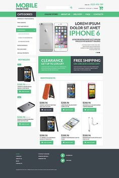 Mobile online store #Virtuemart #template. #themes #business #responsive