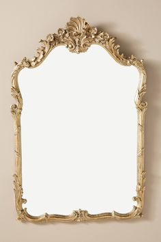 Annelise Mirror by Anthropologie in Gold, Wall Decor Vintage Gold Mirror, Gold Mirrors, Antique Mirrors, Decorative Mirrors, Gold Wall Decor, Antique Wall Decor, French Mirror, Glass Fit, Diy Mirror