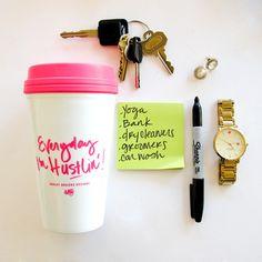Everyday I'm Hustlin' travel mug   Ashley Brooke Designs