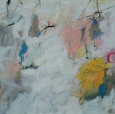 Acrylique sur toile 100 X 100 cm Sandrine Merrien
