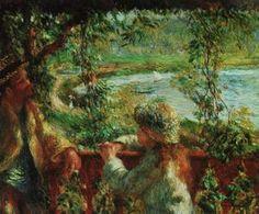 """""""Perchè l'arte non dovrebbe essere bella? ci sono così tante cose spiacevoli al mondo"""". Pierre-Auguste #Renoir (Limoges, 25/02/1841 – Cagnes-sur-Mer, 03/12/1919) #Quote  Vicino al lago, 1880, Art Institute of Chicago, Chicago, IL, USA"""