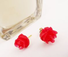 Great Gift for Christmas Red  Cabbage Rose by 4TasteofShabbyChic, $10.00