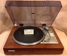 Pioneer PL 560 Custom Vintage Turntable Restored In Real Walnut. Very Nice. #Pioneer