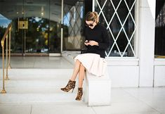 Structured Pieces, posted on http://www.hellofashionblog.com/ Love the animal print booties!