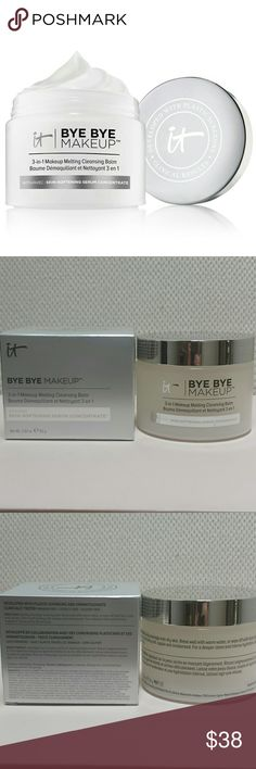 It Cosmetics Bye Bye Makeup 3 in 1 Cleansing Balm Jar is new and has never been opened.   No trades.   Please submit any offers though the offer option. Sephora Makeup